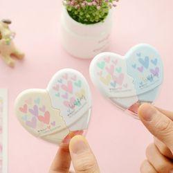 Amor corazón cinta correctora kawaii papelería oficina escuela fuentes 5mm * 10 m desmontable se pueden combinar y separada