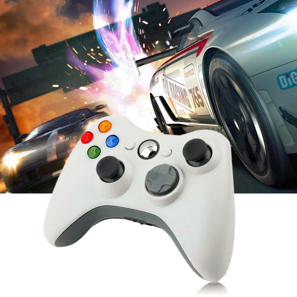 1pcs USB Wired Joypad Gamepad  white Controller For Microsoft for Xbox & Slim for 360 PC for Windows 7 Hot Worldwide 2016