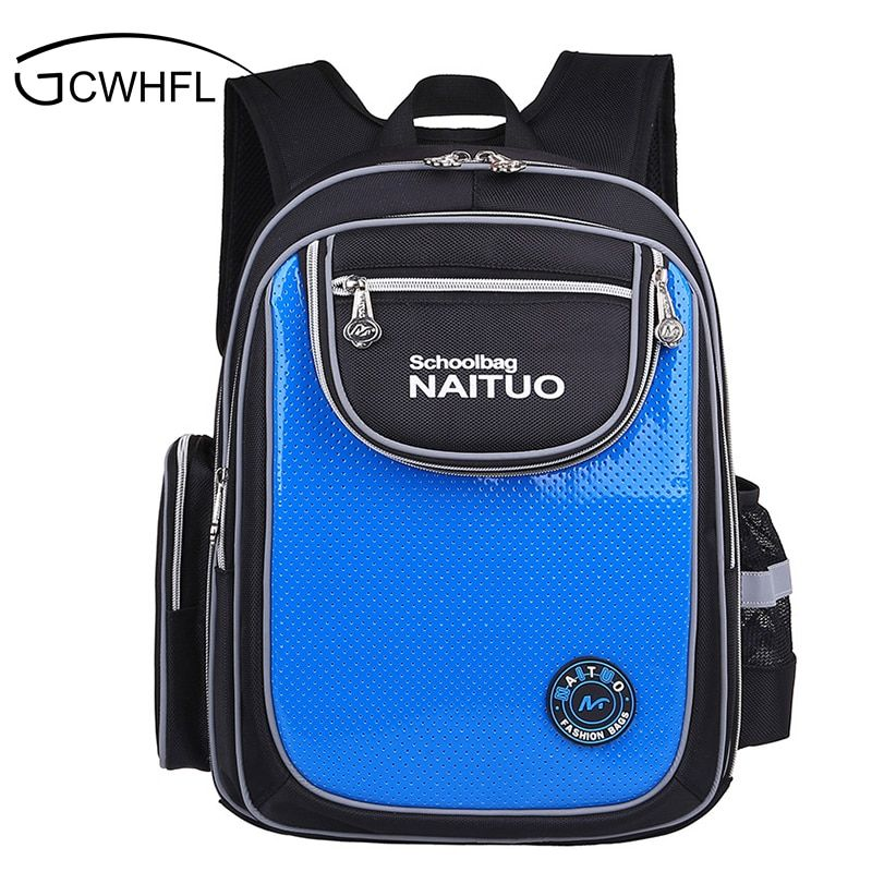 2017 Orthopedic Boys School Bags Children Backpack Primary Bookbag Girls Schoolbags Kids Mochila Infantil Reflective Safety Bags