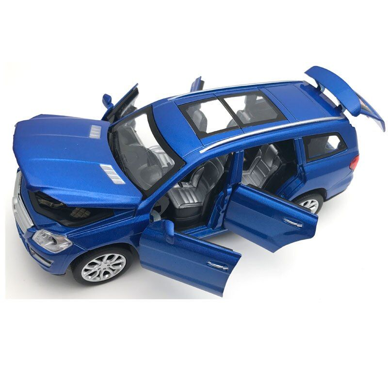 1:32 6 Doors Can be Opened's GL500 Simulation Car Model Boys Pull Back Matte Diecast Metal Vehicles Acousto-optic Alloy Car Toys