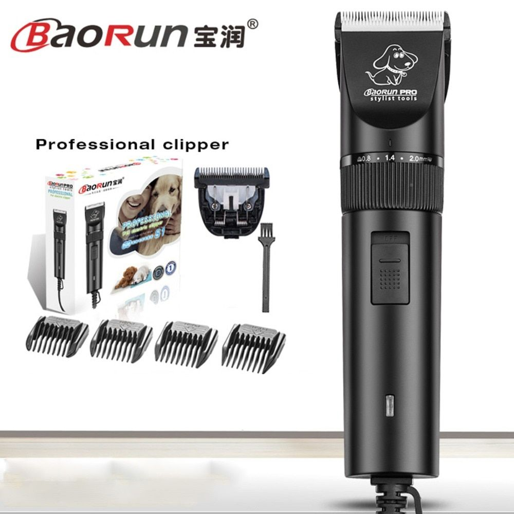 BaoRun S1 Professional Pet Cat Dog Hair Trimmer High-power Electric Scissors Animals Grooming Clippers Dog Hair Trimmer Cutters
