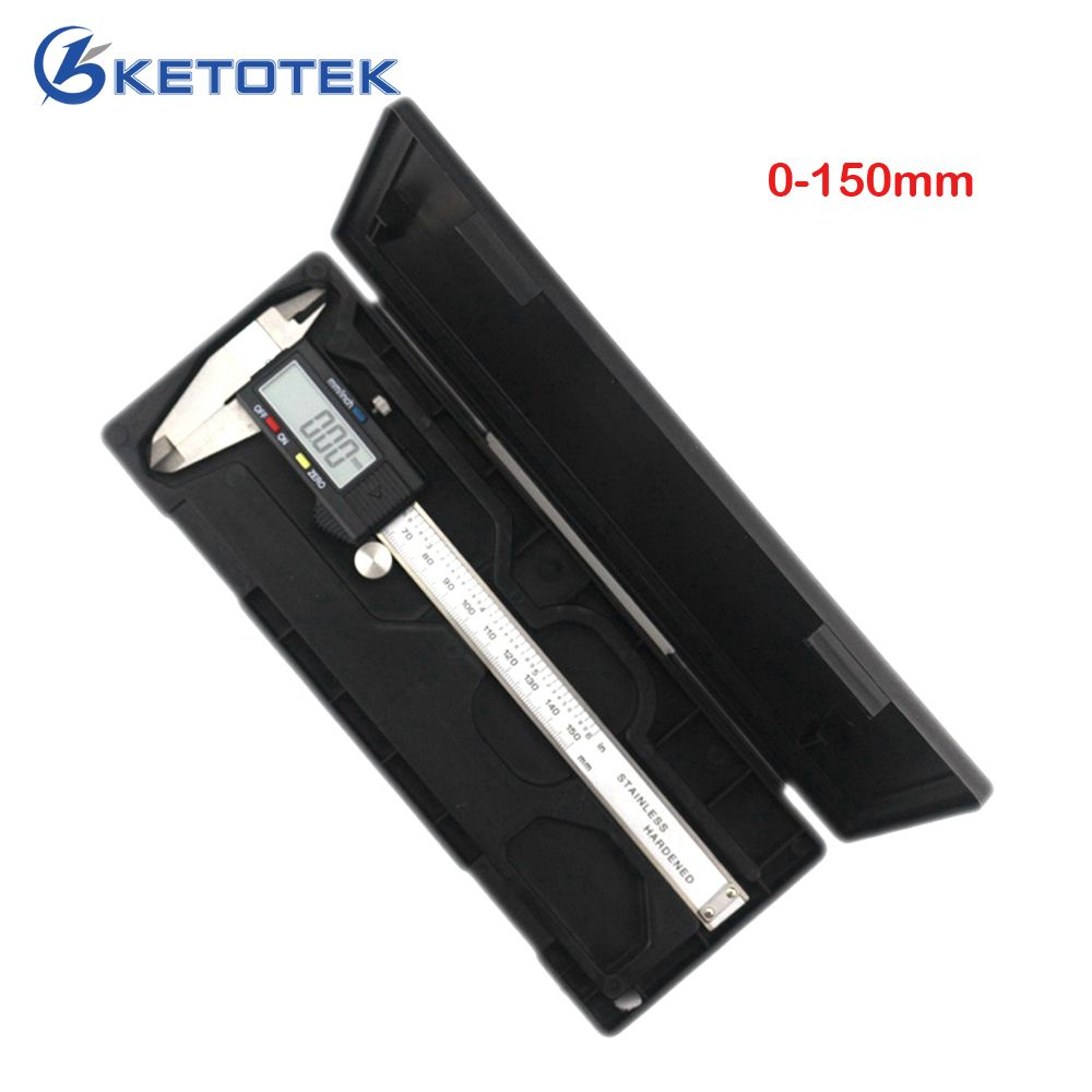 <font><b>High</b></font> quality 0-150mm Measuring Tool Stainless Steel Caliper Digital Vernier Caliper Gauge Micrometer Paquimetro Messschieber