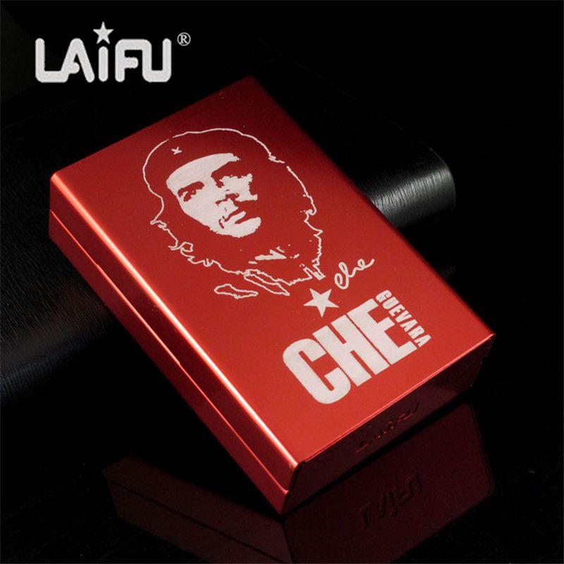 Personnalisé ultra mince automatique étui à cigarettes Rouge Che Guevara Laifu marque mâle métal e cigarettes boîtes laser conception pour toujours