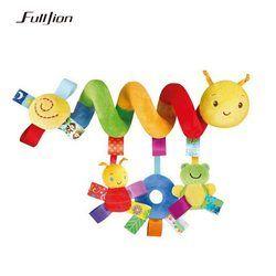Fulljion Bayi Mainan Kerincingan Ponsel Mainan Pendidikan untuk Anak-anak Teether Balita Bed Bell Bermain Bayi Anak-anak Kereta Gantung Boneka