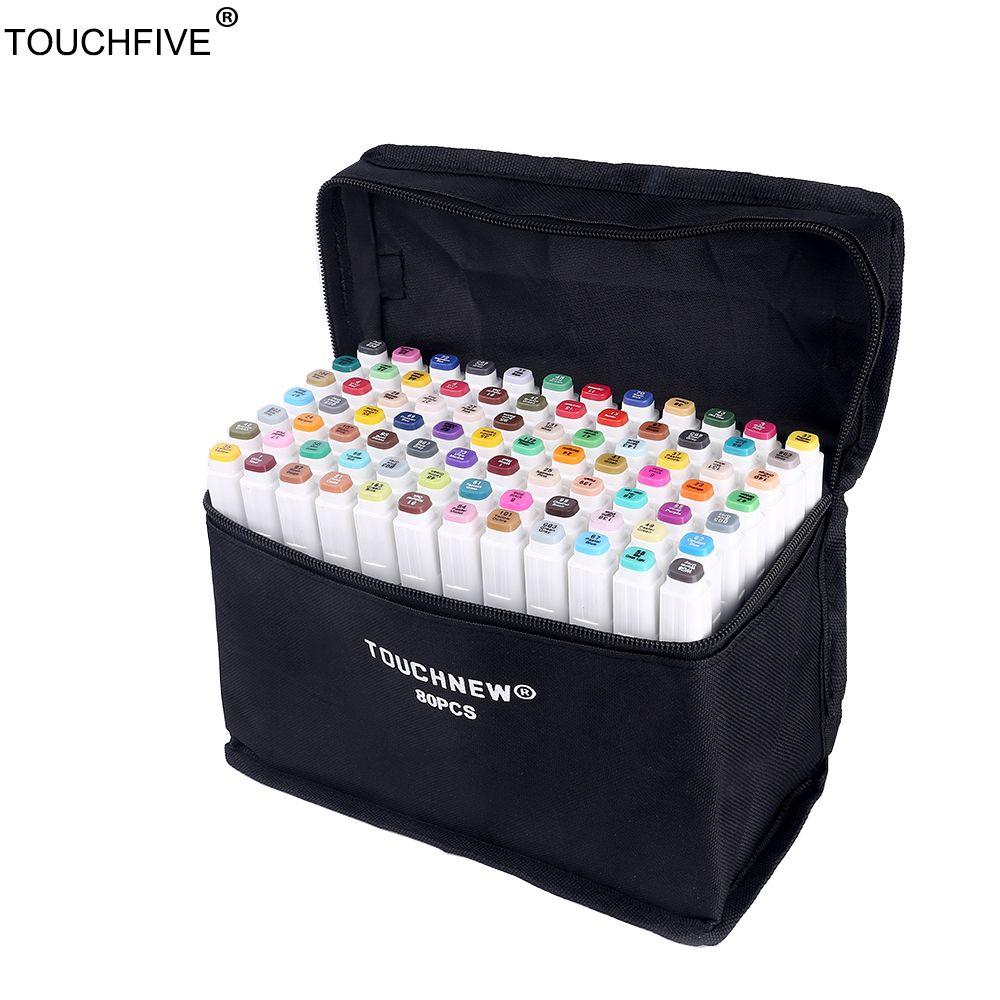 TouchFIVE 36/48/72/80/168 Colors set Art Markers alcohol Dual Headed  graffiti pen markers pen For Animation Manga Design