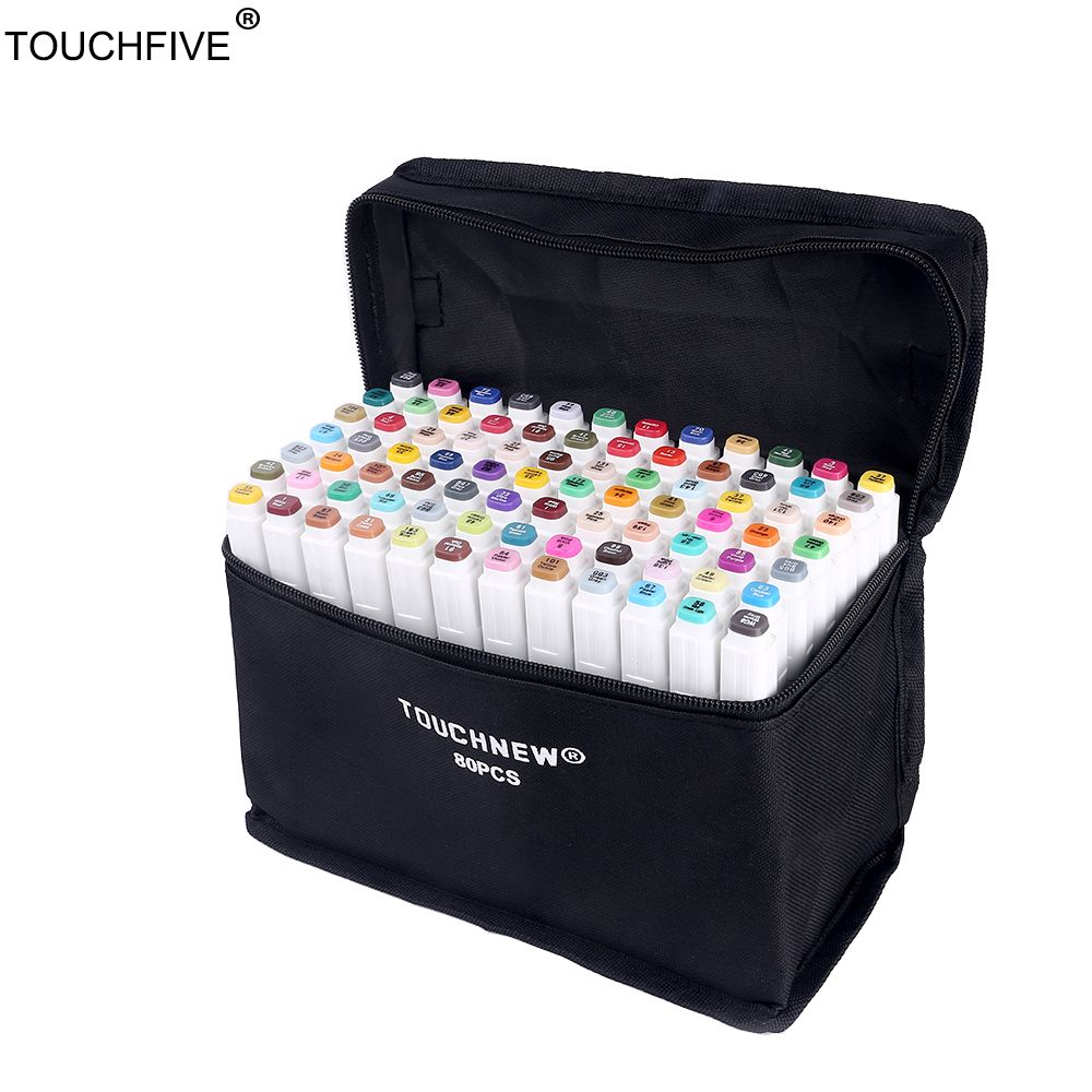 TouchFIVE 60/80/168 Colors set Art Markers alcohol Dual Headed graffiti pen markers pen For Animation Manga Design