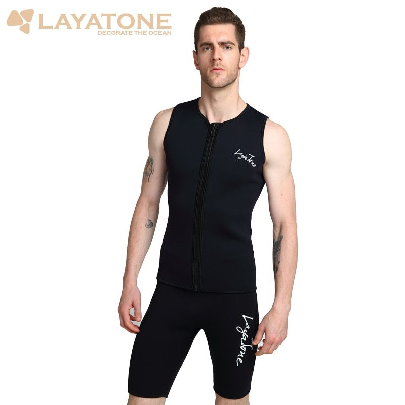 Layatone combinaison gilet hommes 3mm néoprène combinaison de plongée haut gilet surf plongée en apnée pêche costume sans manches plongée sous-marine gilet