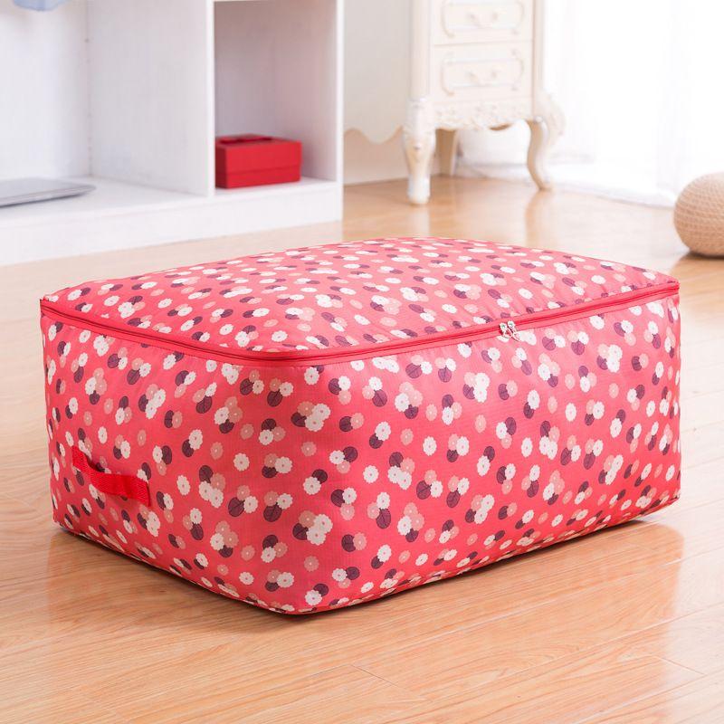 Oxford Quilt Storage Bag Folding Comforter Organizer Bags Waterproof Wardrobe Blanket Sweater Coat Storage Container Bags