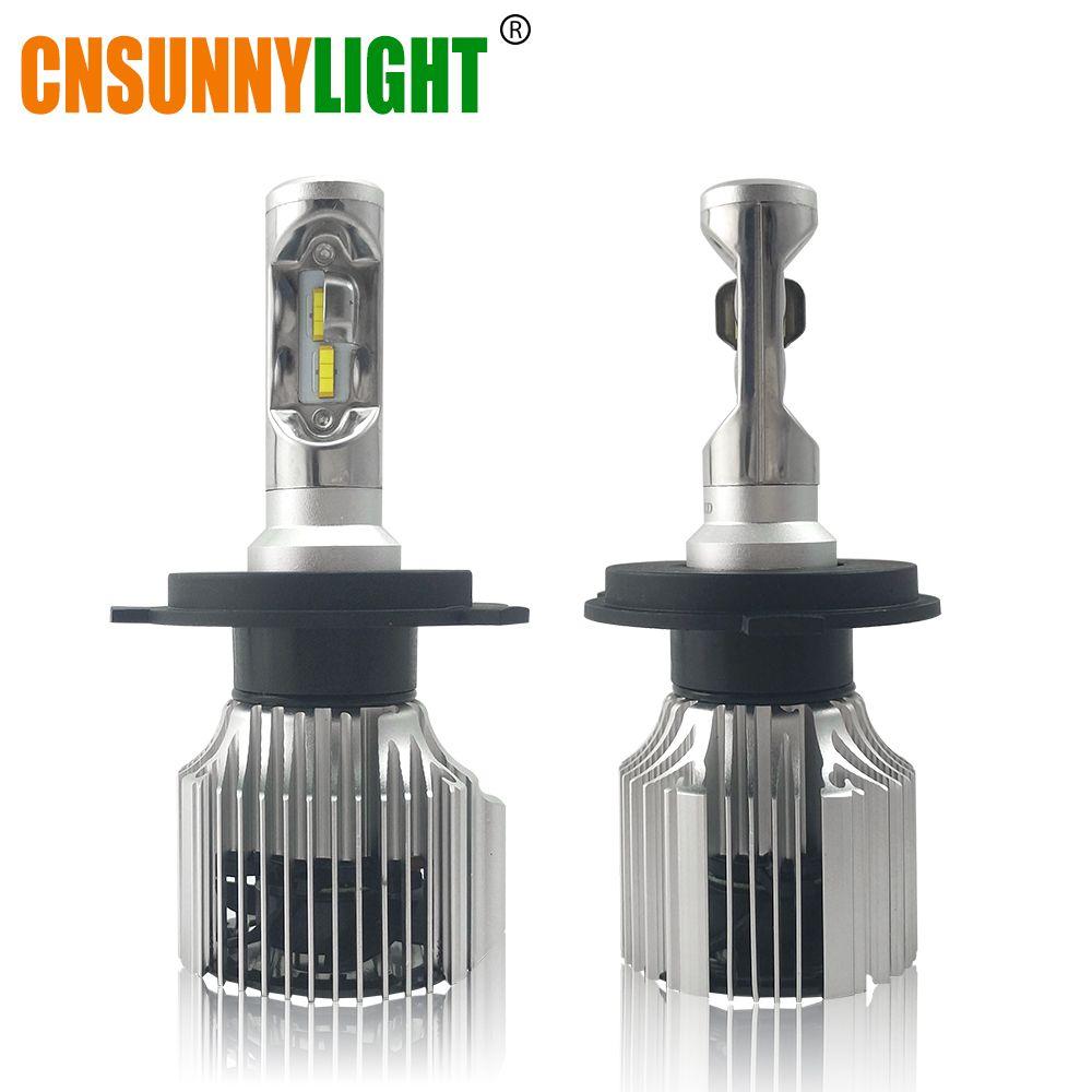 CNSUNNYLIGHT Car LED Headlight Bulbs All in One H7 H11 H1 880 H3 9005 9006 9012 5202 72W 8500LM H4 H13 9007 High Low Beam Lights