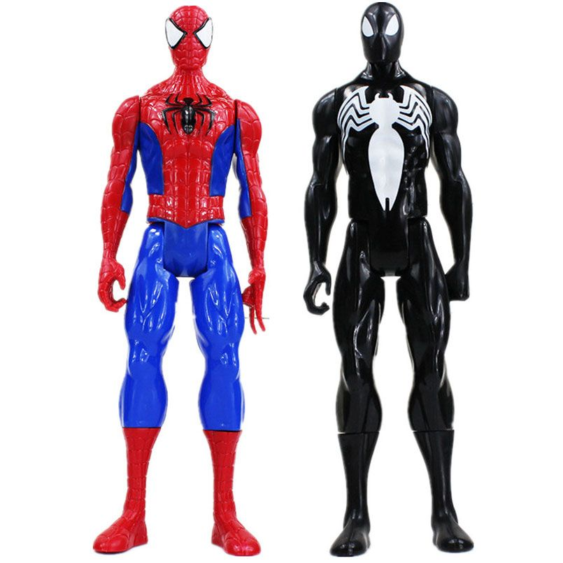 30cm Superhero Spiderman Black Goblin Venom PVC Action Figure Toys Spider Man Joints Moved Model Toys