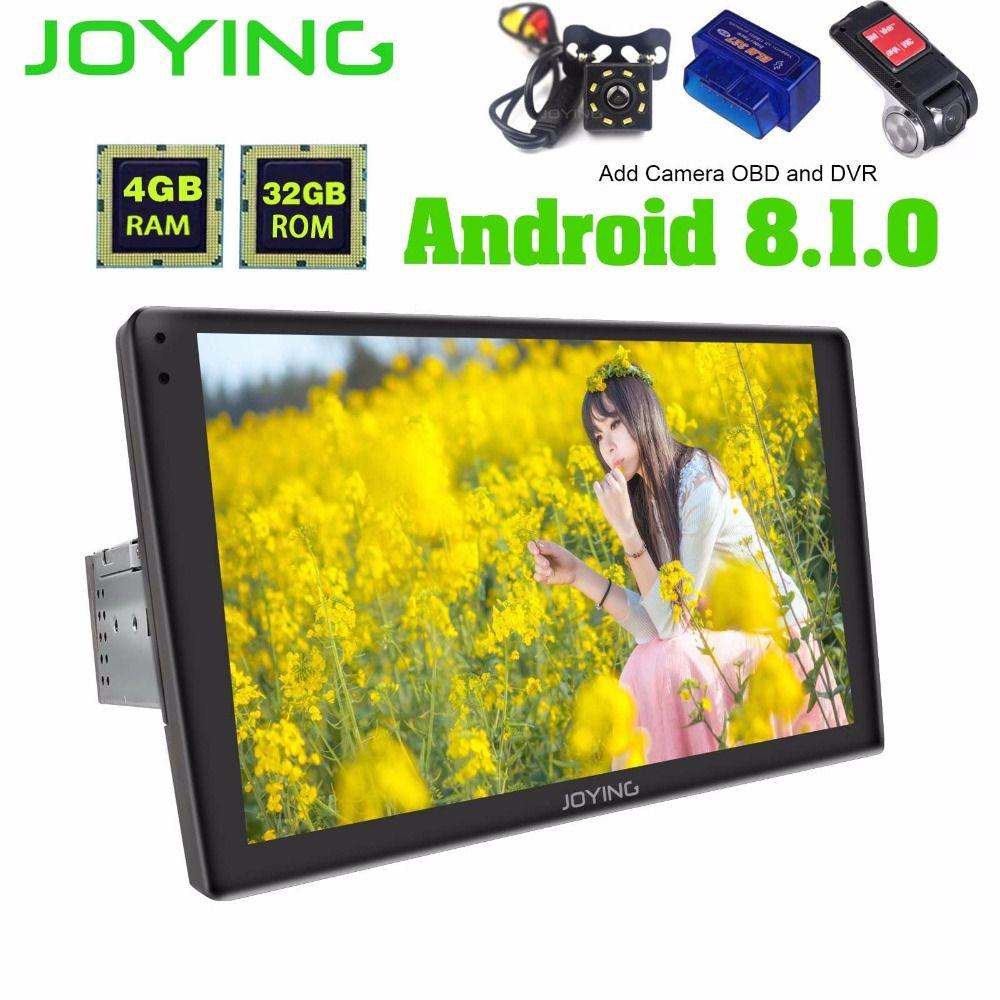 9 2.5D Gebogene Touch Screen Einzel Din Octa Core 4 GB + 32 GB Universal Android 8.1 Auto Stereo Radio multimedia OBD Player Kopf Einheit