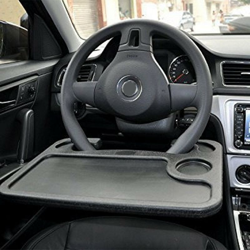 High Quality Car Accessories Universal Car Laptop Stand Notebook Desk Steering Wheel Tray Table Food drink Holder Stand