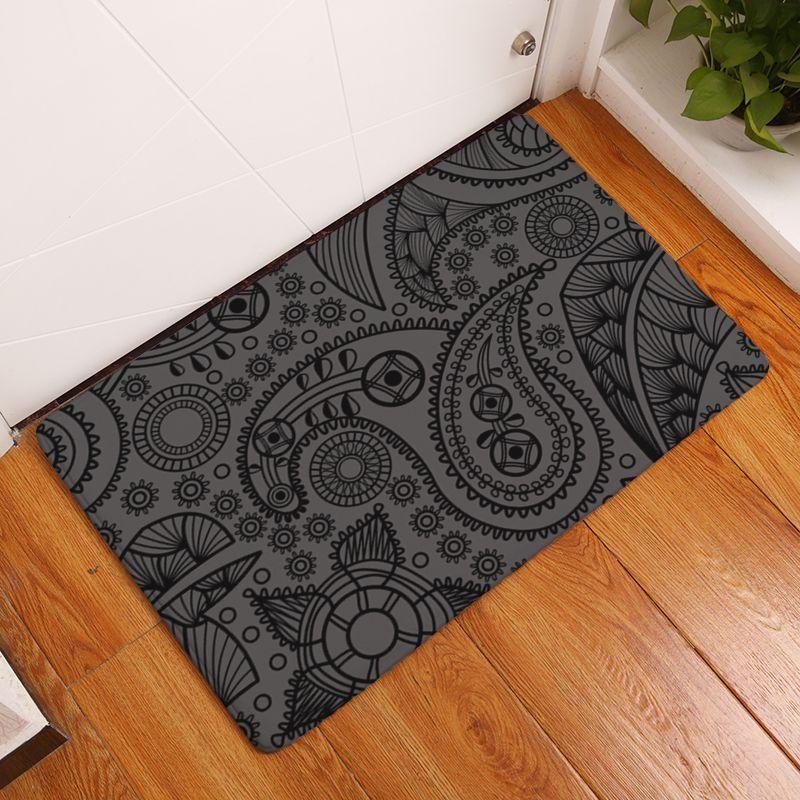2017 nouveaux tapis d'impression de géométrie tapis de cuisine antidérapants pour la maison salon tapis de sol 40x60 cm