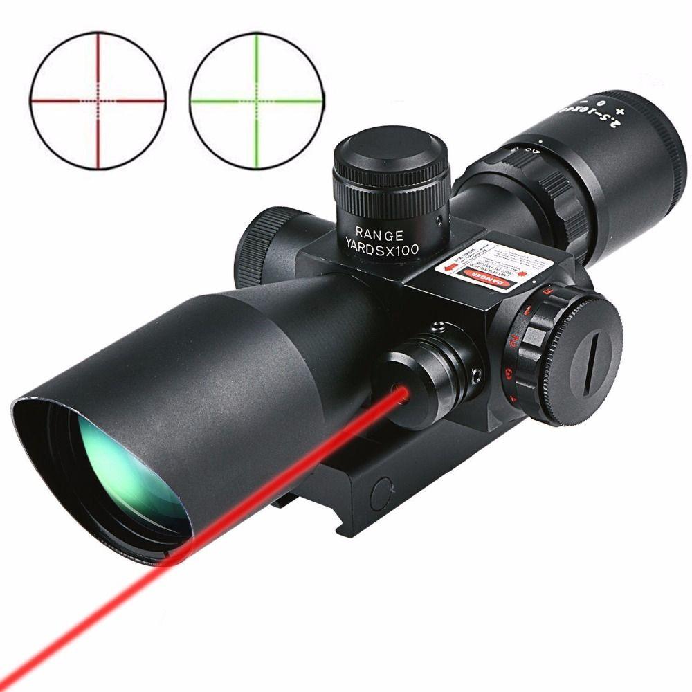 CVLIFE Охота Прицел 2.5-10x40 E красный зеленый горит Mil-точка пистолет прицелы оптики взгляд область с 20 мм и 11 мм крепление
