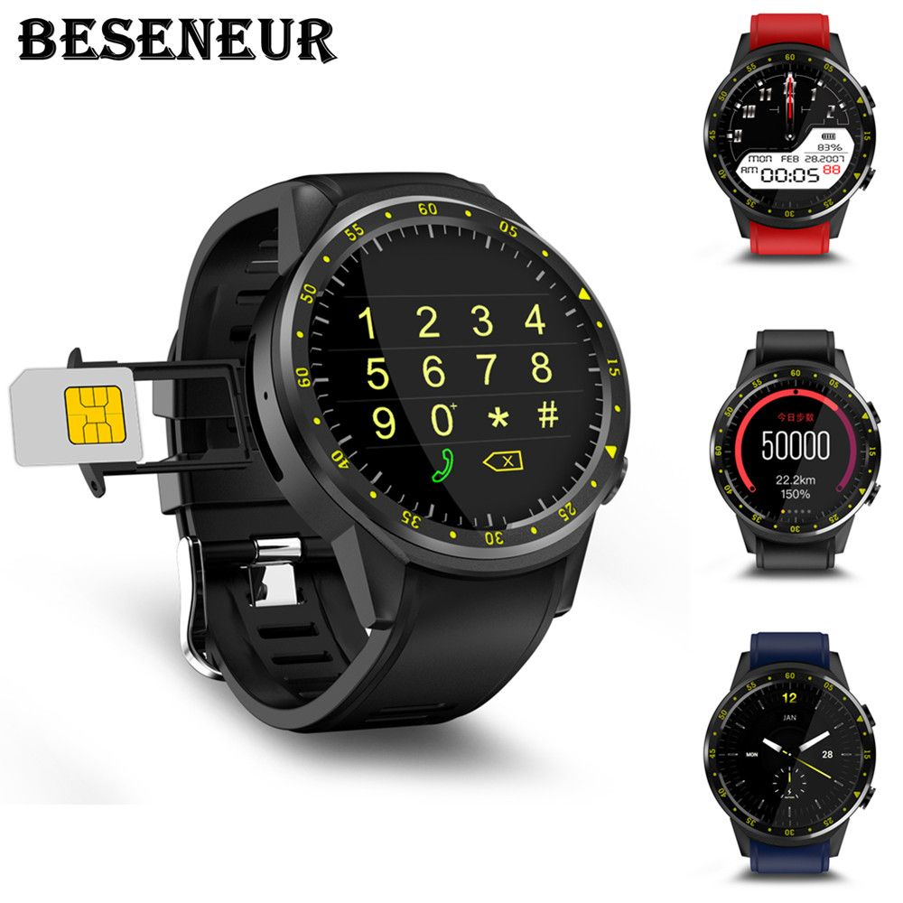 Beseneur F1 Smart Watch with Compass GPS Remote Camera Sport Smartwatch Support SIM Card Bluetooth Wristwatch for Android IOS
