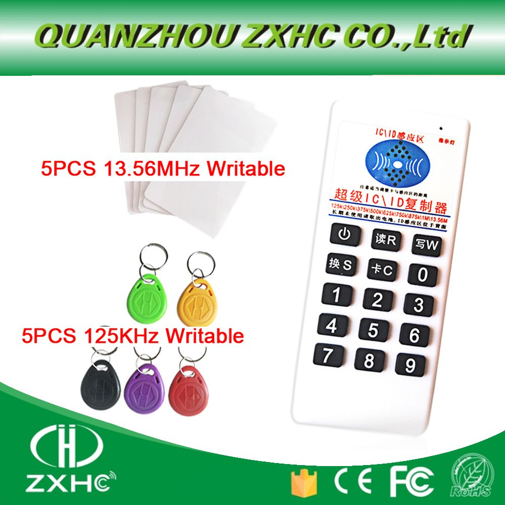 RFID 125khz ID 13.56mhz IC Copier Reader Writer for EM4305 T5577 UID Changeable Tag