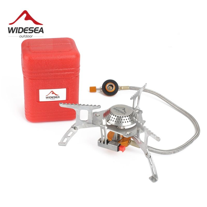 Widesea Outdoor Gas Stove Camping Gas burner <font><b>Folding</b></font> Electronic Stove hiking Portable Foldable Split Stoves 3000W