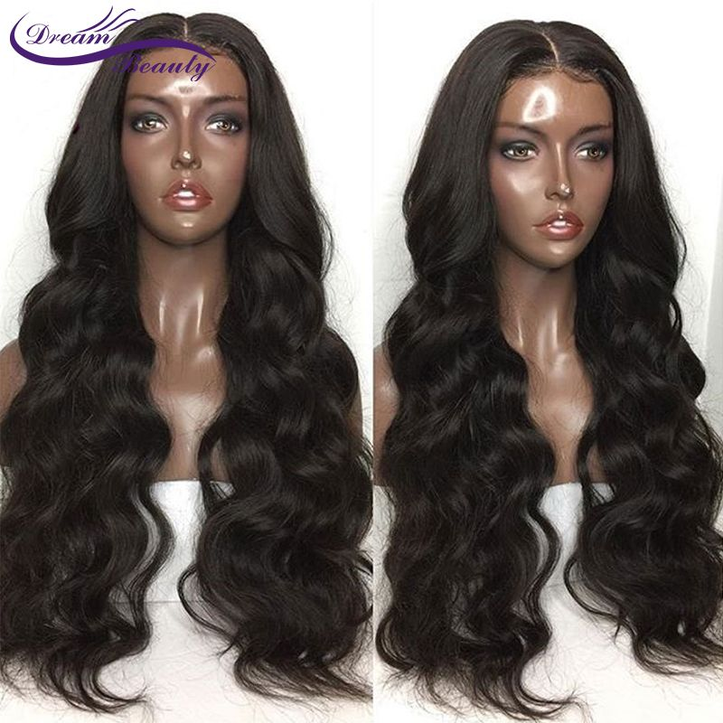 Dream Beauty 130% Density 13x6 Deep Parting Lace Front Human Hair Wigs Pre-Plucked Hairline Body Wave Brazilian Remy Hair Wigs