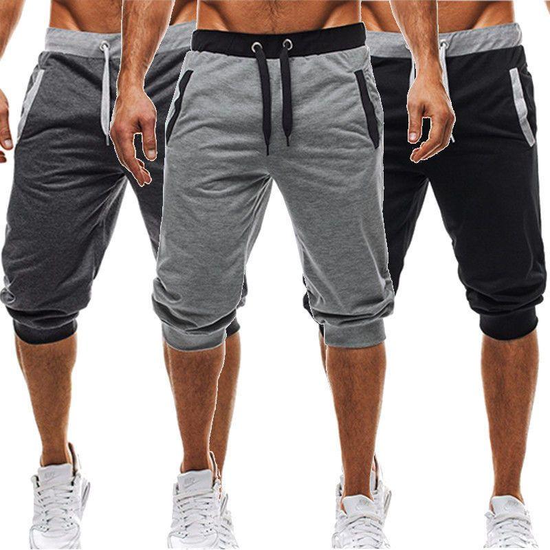 BBYES Summer Men Casual Sweatpants Shorts 3/4 Trousers Short <font><b>Fitness</b></font> Clothing Bodybuilding Men Shorts Summer Men Clothing