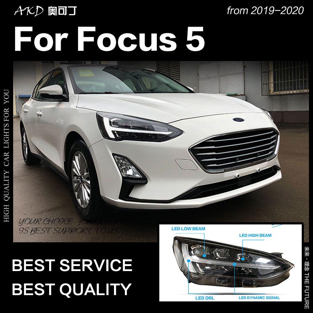 AKD Auto Styling für Ford Focus Scheinwerfer 2019 Neue Fokus 5 LED Scheinwerfer Dynamische Signal Led Drl Hid Bi Xenon auto Zubehör
