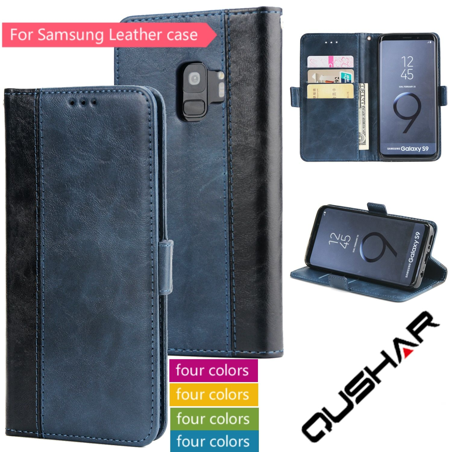 Fundas Carcasas For Samsung S9 S8 Plus S7 S6 Edge M20 M30 Flip Leather Book Card Wallet Phone Case Caso For Note8 Note 9 A30 A50