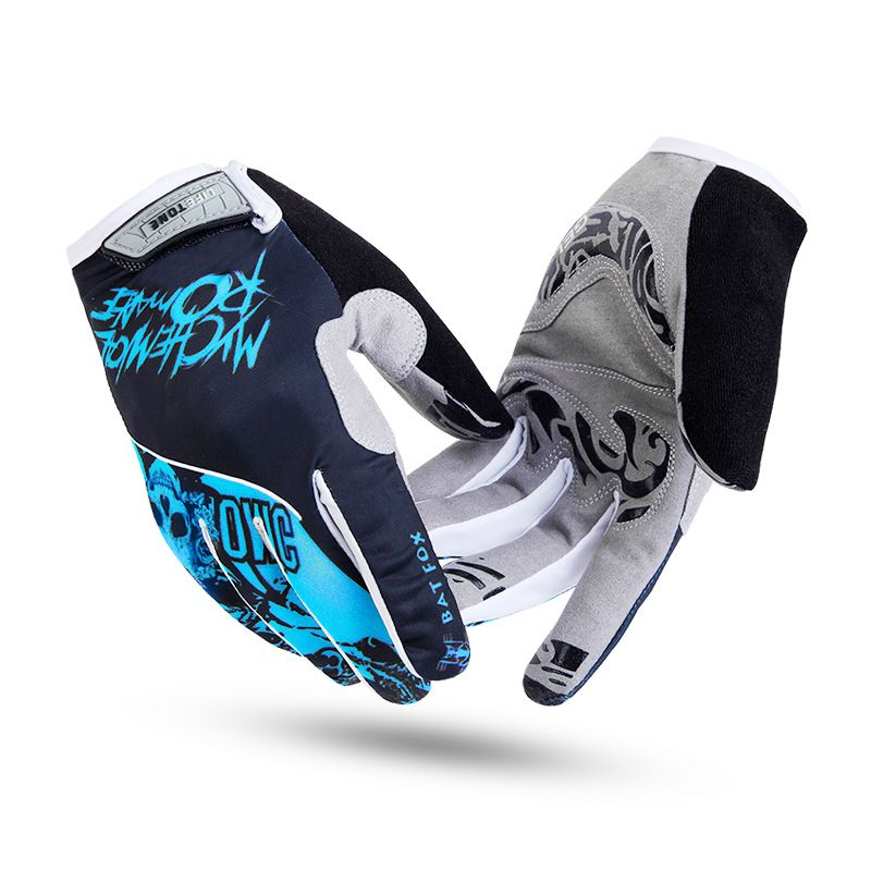BATFOX Men Women Full Finger Cycling Gloves Nylon Road Mountain Bike Bicycle MTB Downhill Riding Gloves gel pad Luva Ciclismo
