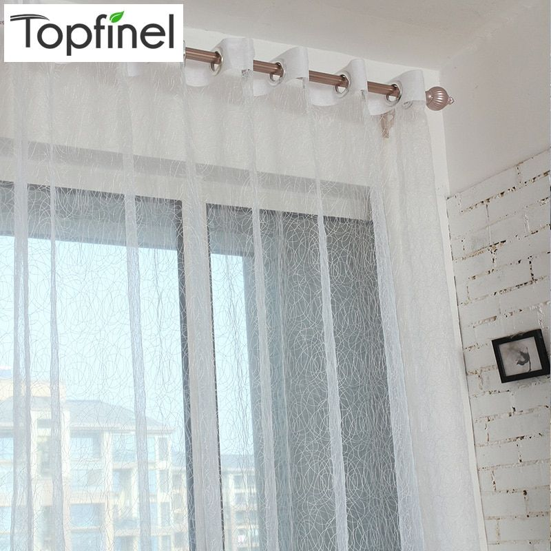 Top Finel Chaude Nid D'oiseau Ombre Tulle pour Fenêtre Rideau panneau Fini Moderne Sheer Rideaux pour la Cuisine Salon la chambre