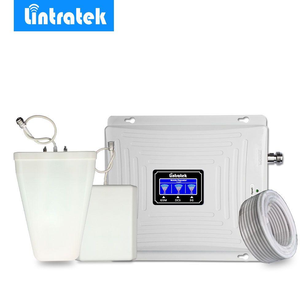 Lintratek Triple Band Cellular Signal Booster 2g 3g 4g 900 mhz LTE 1800 mhz 2100 mhz WCDMA handy Signal Verstärker Repeater @