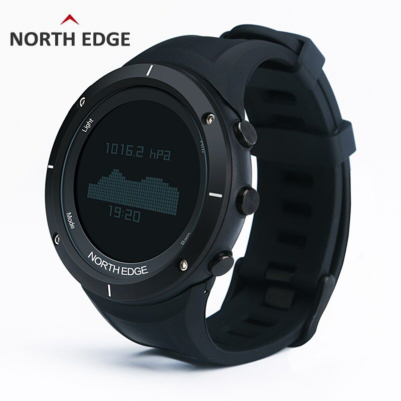 Man outdoor sport digital smart watch waterproof 50m fishing Altimeter Barometer Thermometer Compass Altitude hours NORTH EDGE