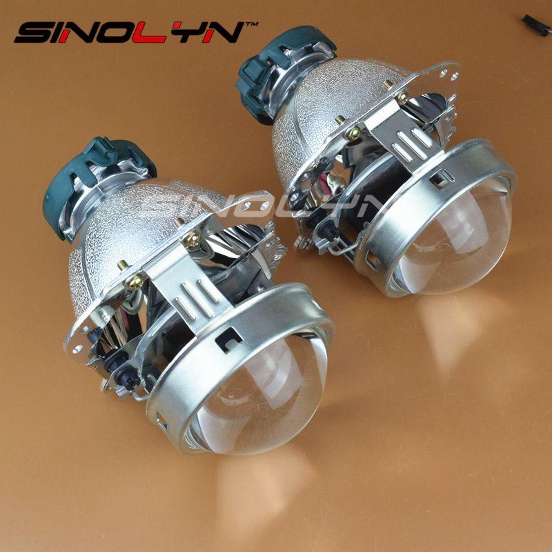 EVOX Bi-xenon Projector Lens Reflector Bowls Replacement for BMW E60 E61 E53/Ford C-Max S-Max/Audi A6 S6 A8 D3 S8 D4/Benz W211