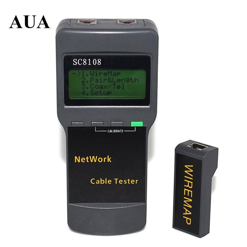Hot Selling Portable LCD Wireless Network Tester Meter and LAN Phone Cable Tester +  Meter With LCD Display RJ45