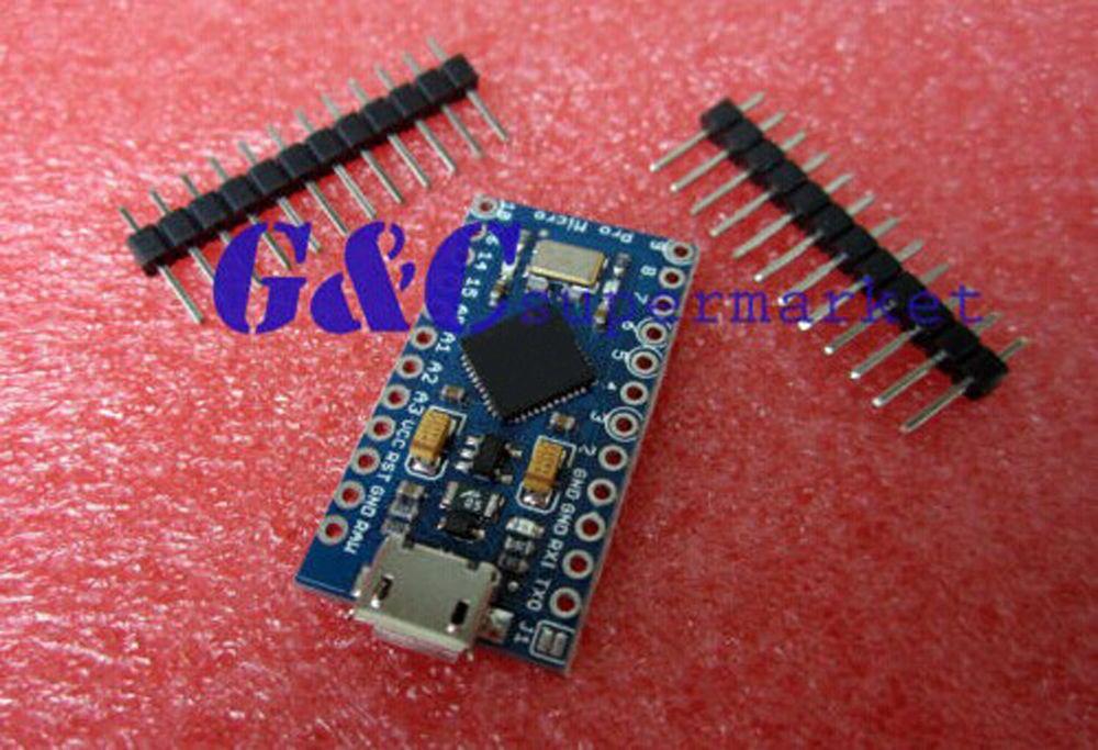 1PCS New Pro Micro ATmega32U4 5V 16MHz Replace ATmega328 Pro Mini With 2 Row Pin Header