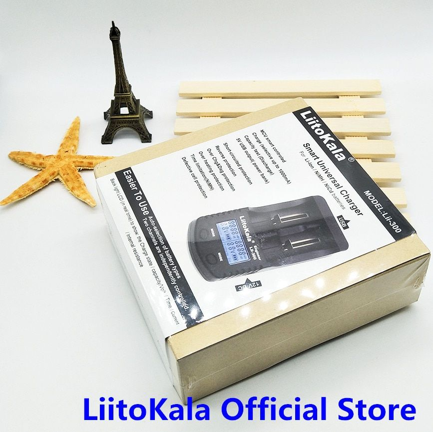 LiitoKala Lii-300 Digital 18650 26650 18350 10440 18500 Charger LCD Display Battery capacity test carregador bateria charger