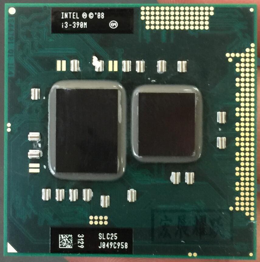 Intel Core i3-390M Processeur i3 390 M Dual-Core Ordinateur Portable CPU PGA988 cpu