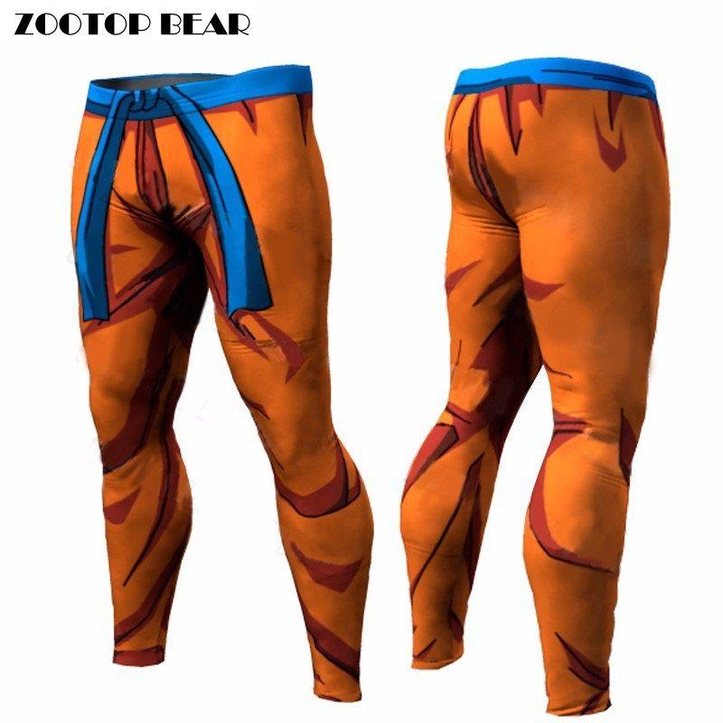 Dragon Ball Pants Compression Trousers Fitness Quick Dry Pant Tight 3D Dragon Ball Z Anime Men Vegeta Goku Pant ZOOTOP BEAR