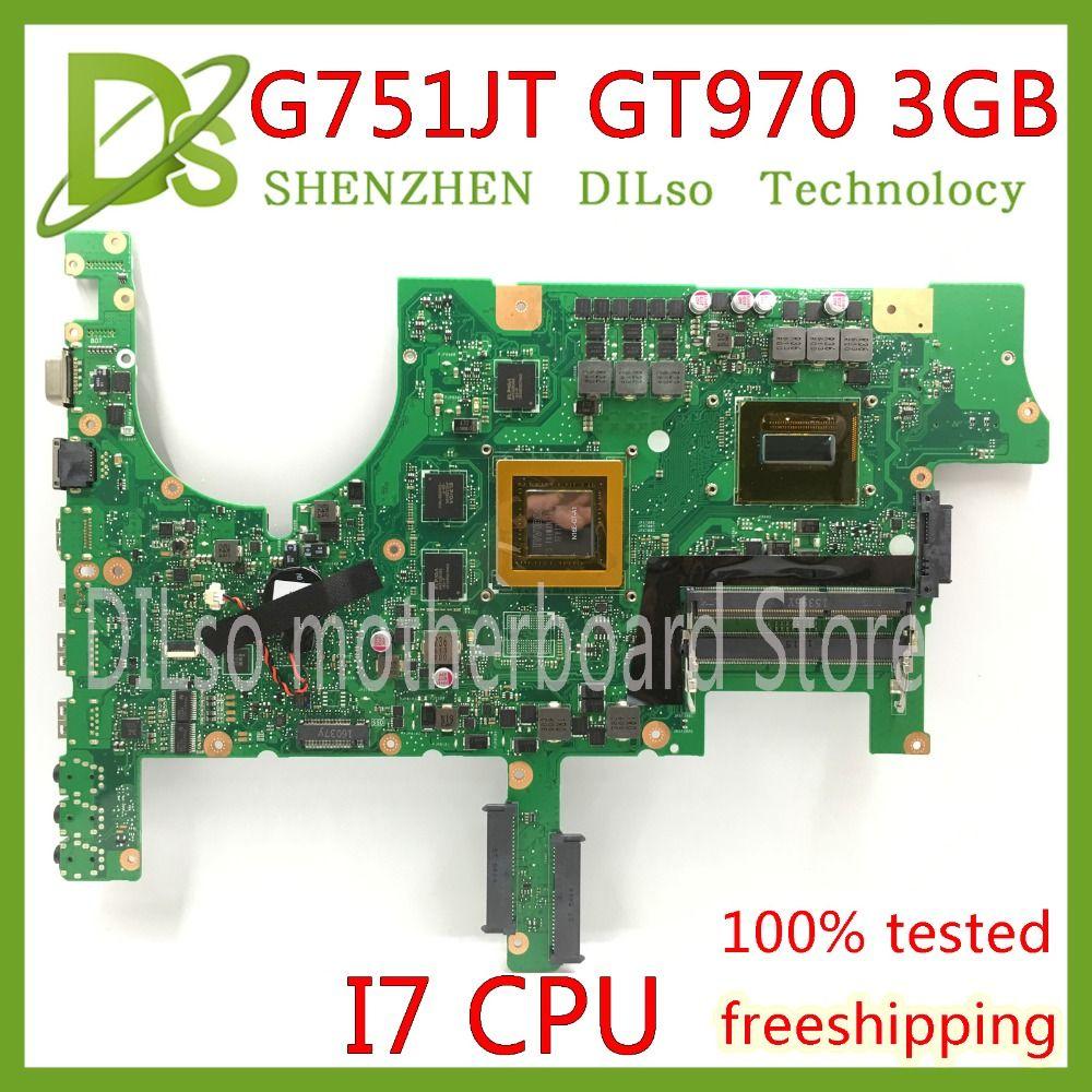 KEFU G751JT motherboard For ASUS G751J G751JY G751JT G751JM laptop mainboard with I7 CPU GTX970M 3GB 100% Test original in stock