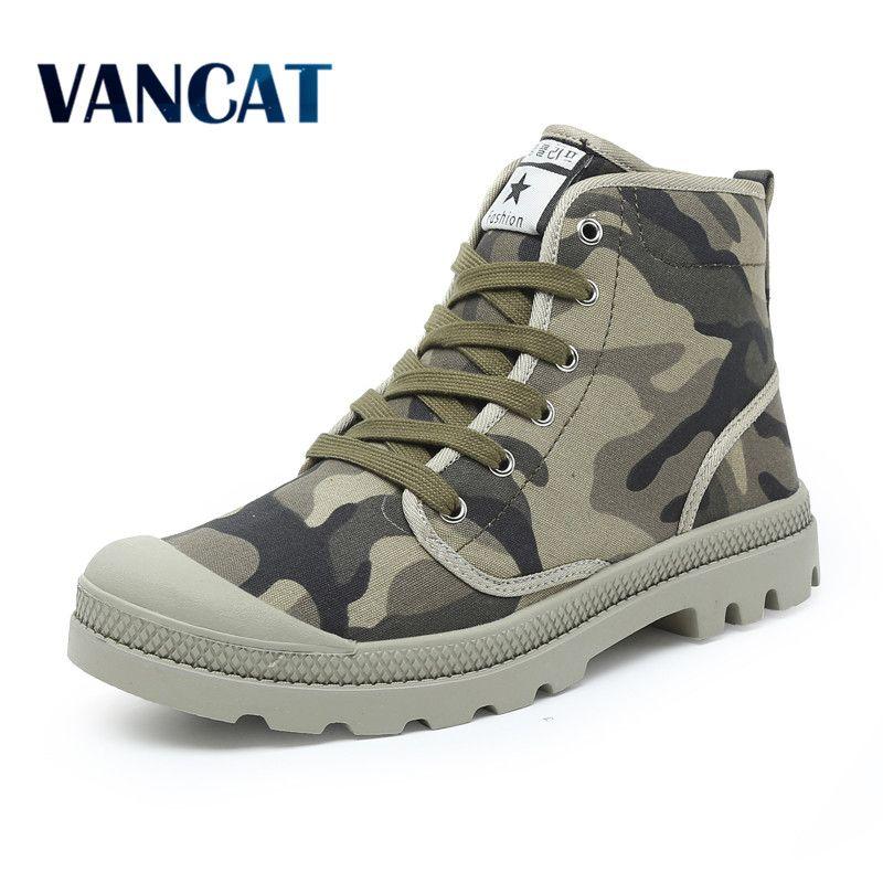 Men Casual Shoes Ankle Military Canvas Shoes Tactical Combat Lace-Up Spring/Autumn Men shoes Zapatillas Hombre Big Size 38-47