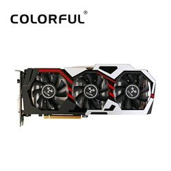 Colorful NVIDIA GeForce GTX iGame 1060 6GB 192bit Gaming GDDR5 PCI-E X16 3.0 Video Graphics Card DVI+HDMI+3*DP Port Overclocking