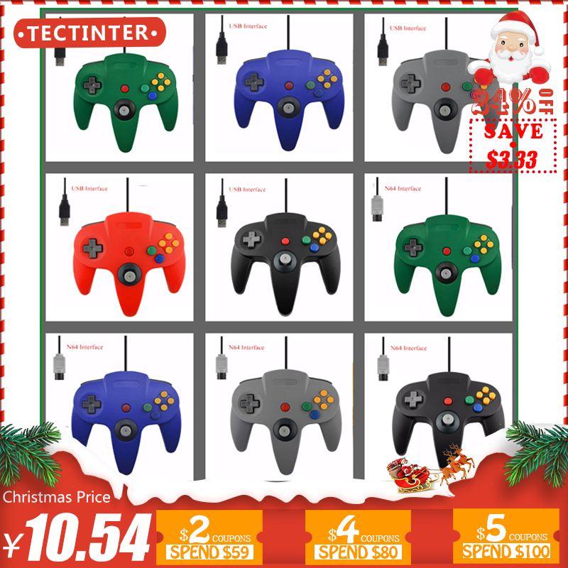 Filaire USB Controller Pour Nintendo N64 Jeu Filaire Gamepad Joypad Joystick Pour Gamecube Pour N64 64 pc Noir Pour Mac accessoire de jeu