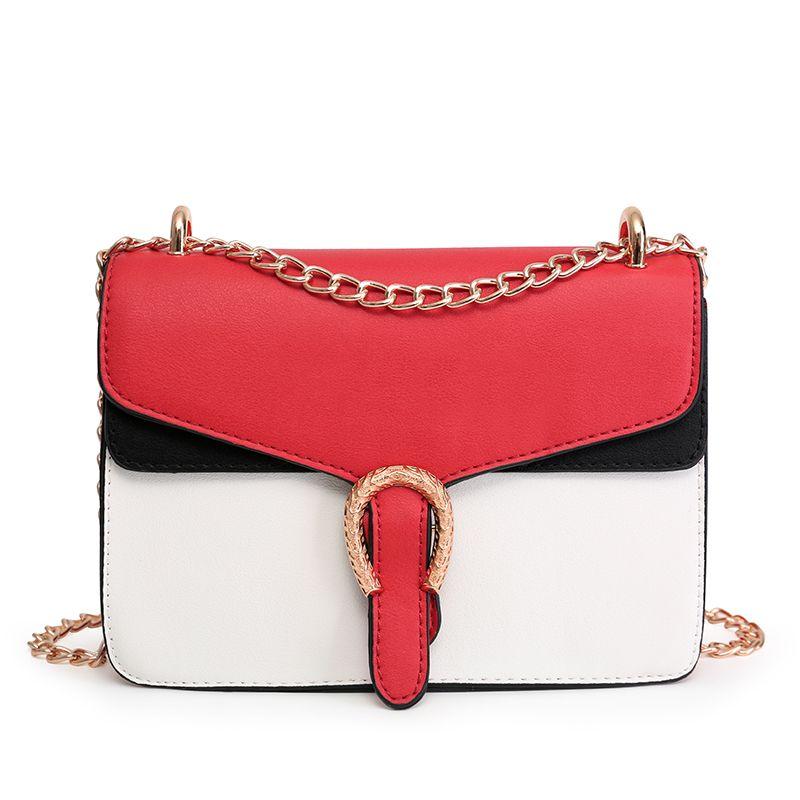 Neue Designer Handtasche PU leder geprägte Schulter Taschen mode Frauen Tasche Kette Kreuz Tasche Marke Designer Umhängetasche