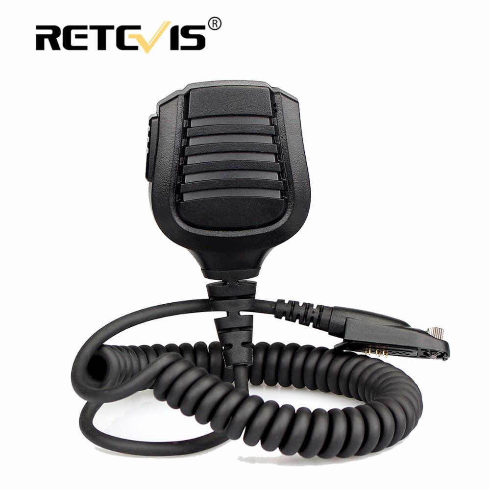 New Retevis IP67 Waterproof Speaker Microphone PTT For Retevis RT82 Dual Band DMR VHF UHF Walkie Talkie MIC Accessories J9127M