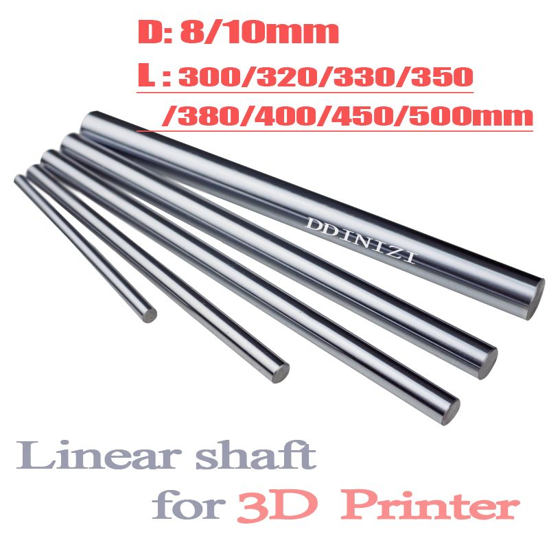 Optical Axis 300 320 350 380 400 450 500 mm Smooth Rods 8mm Linear Shaft Rail 3D Printers Parts Chrome Plated Guide Slide Part