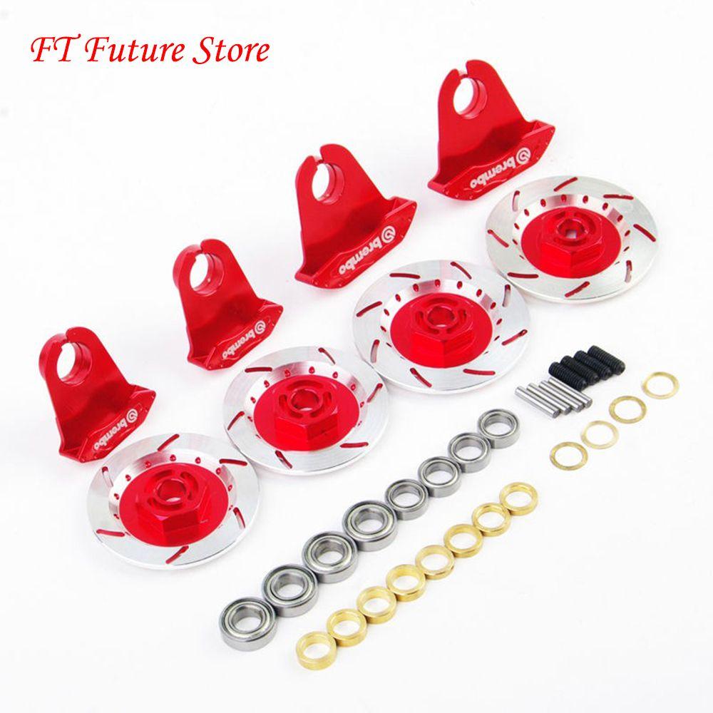 Modèle de disque de frein de jante de roue en alliage rouge 1/10 pour voiture de course sur route RC/modèle de véhicules accessoire de jouets