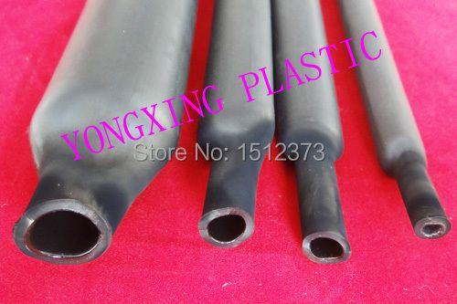 4 Mètre/lot 3.2mm; 4.8mm.6.4mm; 7.9mm chaque 1 Mètre à double paroi thermique thermorétractable tube avec de la colle shrink ration 3:1