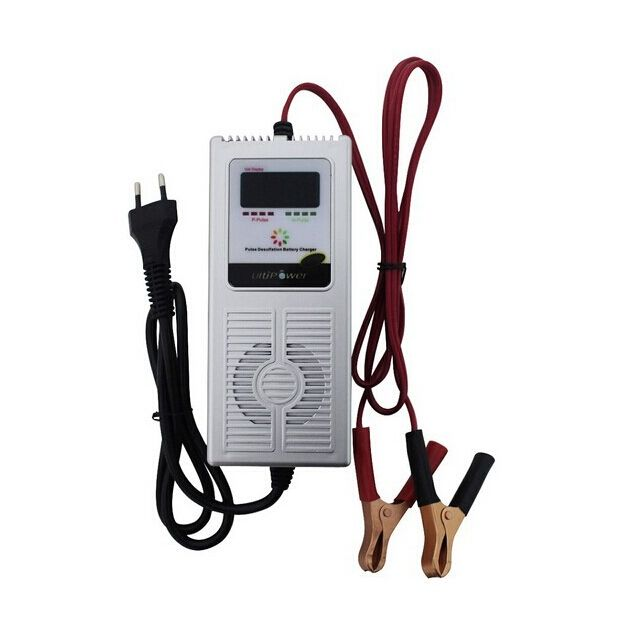 Smart 12V 8A Car e-bike Scooter Battery Charger Desulfator & Maintainer 7-stage Negetive Pulse AGM Battery Charger