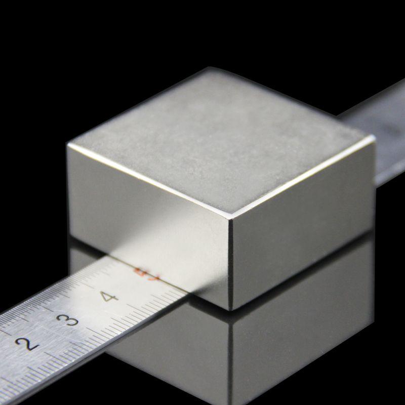1 pièces bloc 40x40x20mm Super puissant forte terre Rare bloc NdFeB aimant néodyme N52 aimants-livraison gratuite