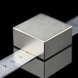 1 unids bloque 40x40x20mm tierra neodimio NdFeB imán bloque N52 imanes -envío libre