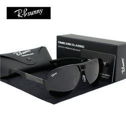 Модные бренды поляризованные солнцезащитные очки Для мужчин Бизнес классические солнцезащитные очки высокого качества блок вождения UV400 и...