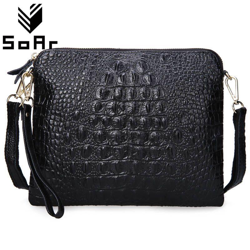 Sac pour femme cuir véritable de vachette sacs de postier pour femmes Bandoulière sac à bandoulière Dames Embrayage Crocodile Motif petit sac à main