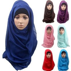 Women's Cotton Comfortable Muslim Islamic Ramadan Hijab Long Scarf Shawl  Headwear BJ5H